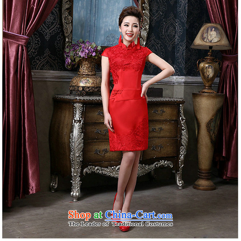 Yet a red sexy retro bridal dresses short of Qipao QQC1005 RED�S