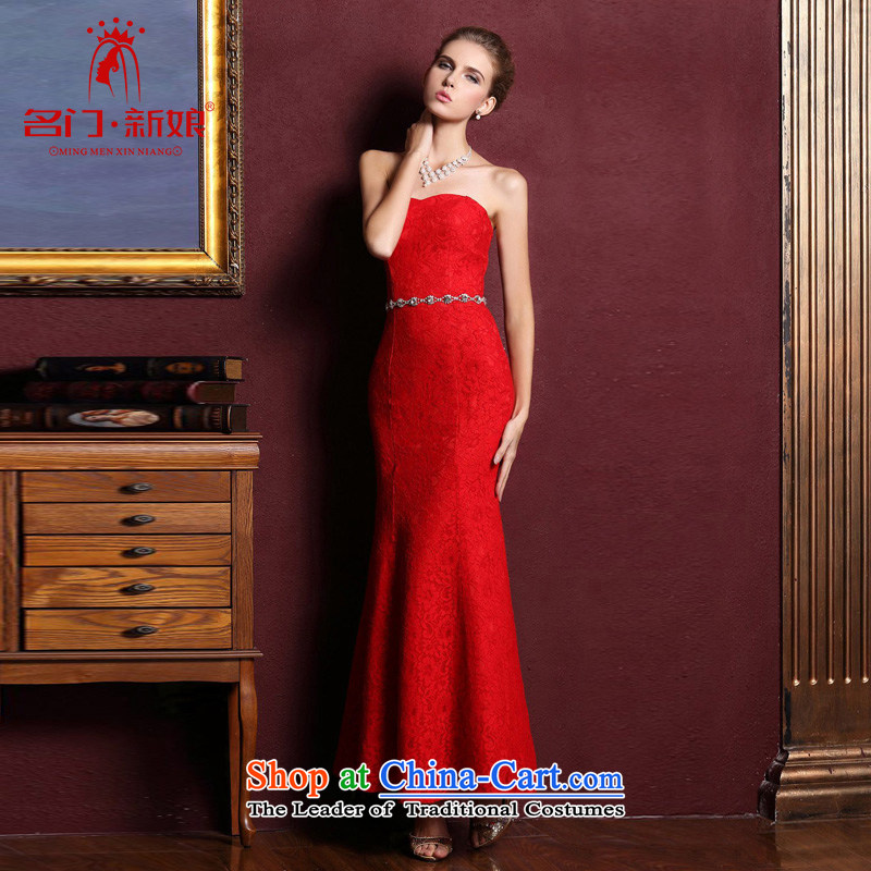 A Bride dress new dresses marriage 2015 bows services bridesmaid long red dress 237 red S
