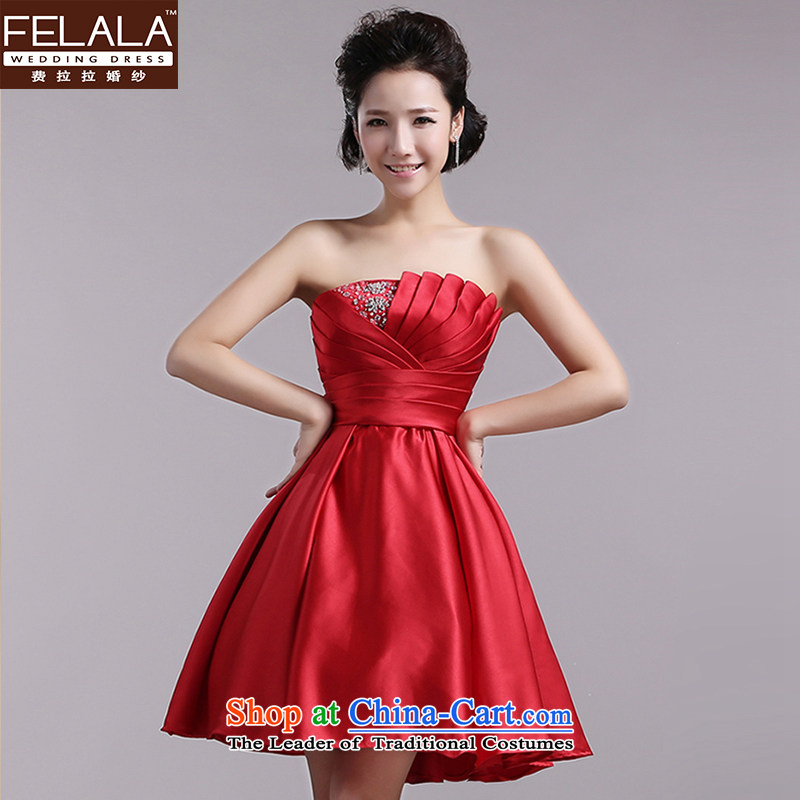 Ferrara聽2015 annual meeting of the new Small dress anointed chest bridesmaid sister skirt moderator dinner dress spring, Red聽M聽Suzhou Shipment