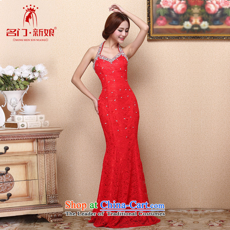 A聽new bride 2015 Red Dress hanging also dresses crowsfoot sexy charming luxury drilling 112 M