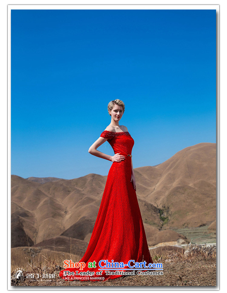 A聽new bride 2015 Red Tail dress red lace tail elegant dress 576 L picture, prices, brand platters! The elections are supplied in the national character of distribution, so action, buy now enjoy more preferential! As soon as possible.