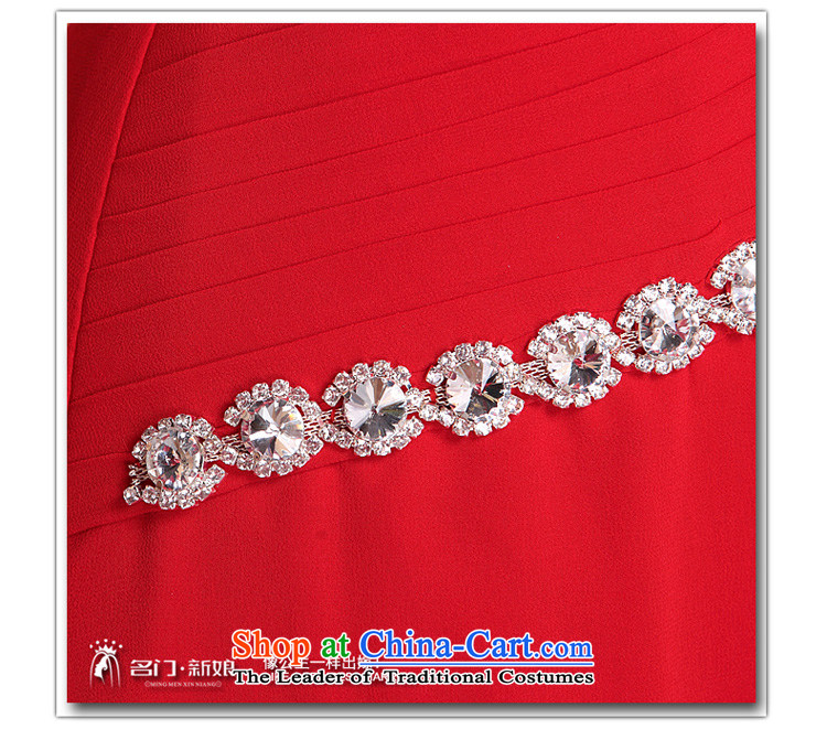 A聽new bride 2015 Red Dress bows dress long gown luxurious 684 drill, prices, picture M brand platters! The elections are supplied in the national character of distribution, so action, buy now enjoy more preferential! As soon as possible.