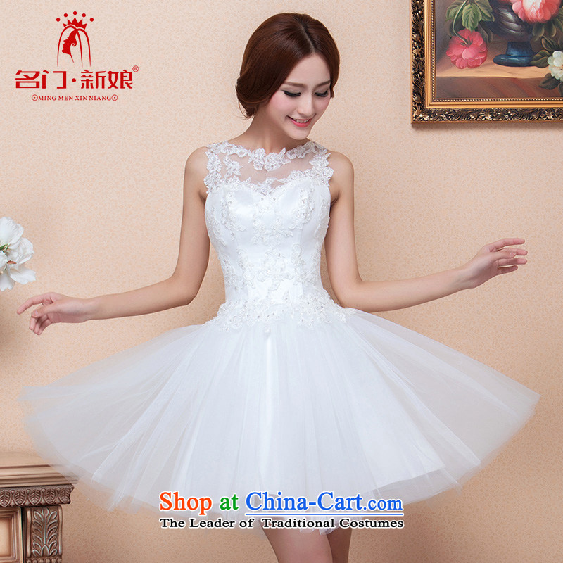 A?new bride 2015 sweet little dress lace dress Princess Bride dress dresses small 123 L