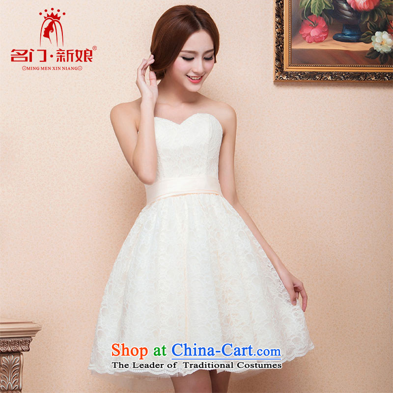 A�new dresses bride 2015 short of HANGZHOU CHAISHI IMP Bow Tie cute little dress 128 M