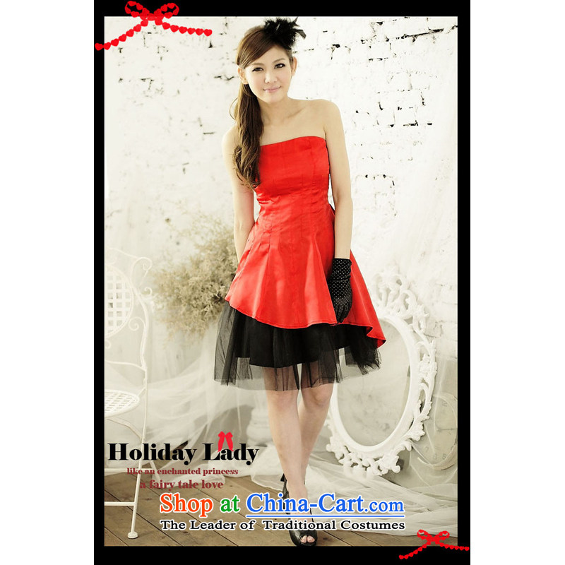 The end of the light (MO) wholesale agent QIAN, Japan and the Republic of Korea does not rule layers bon bon princess dress dresses small dress 2209 Red?L
