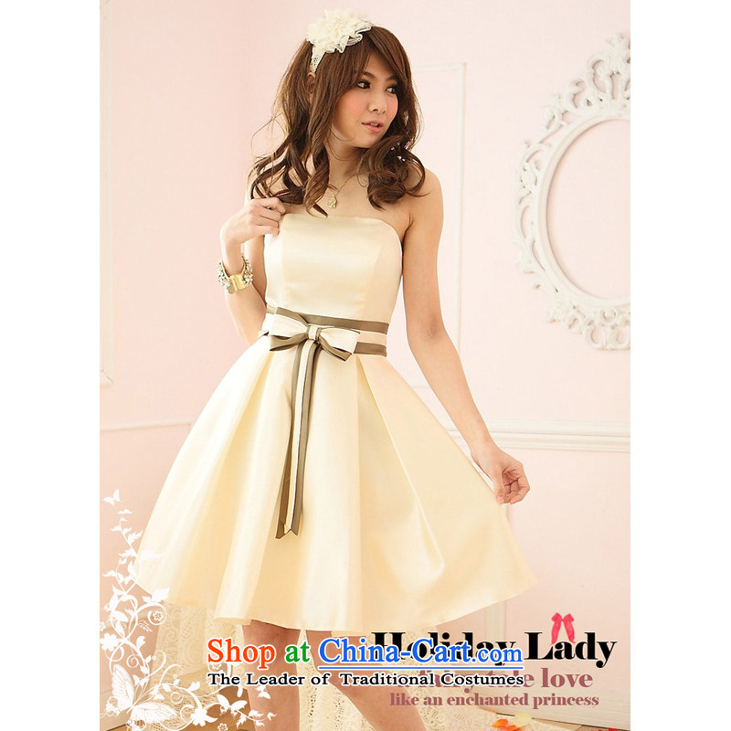 The end of the light (MO) 2013, QIAN Bow Tie breast dress dress dresses small dress bridesmaid skirt 2210-�L