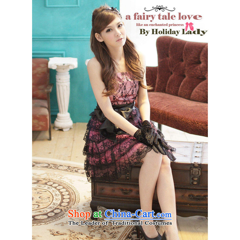At the end of light fine silk yarn small dress lei layers bon bon apron skirt 2208 Black are code