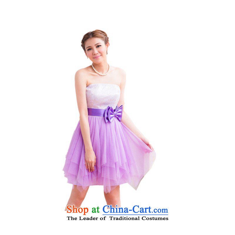 The end of the light (MO) 2015 Summer QIAN sweet gauze stitching evening dresses bridesmaid service pack dresses�2,325�Will Purple
