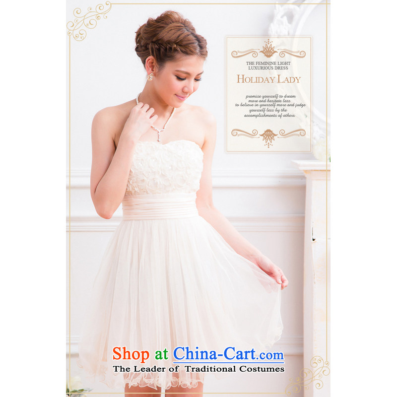 The end of the light (MO) 2013 married QIAN bridesmaid princess dress small dress wedding dresses 23,270,000 m apricot?XL