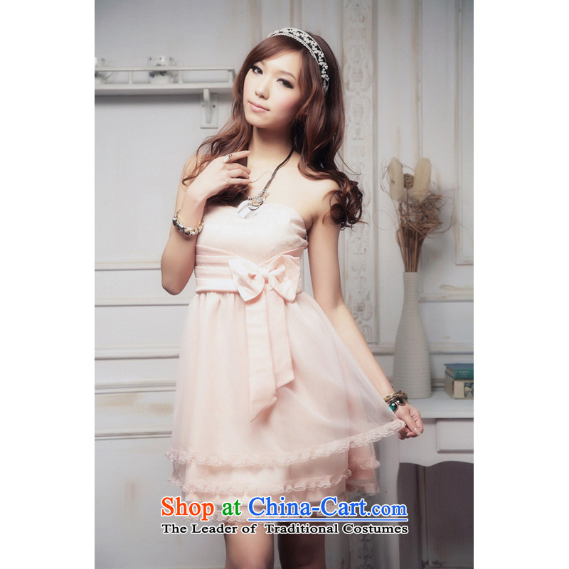 The end of the light _MO_ 2012, QIAN gauze light twill evening dress bridesmaid dinner small?6905-1 XL pink are code
