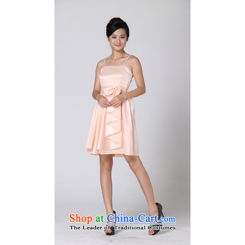 The end of the light (MO) 2015, QIAN dresses evening dresses summer wavy Bow Ties are pink code 811