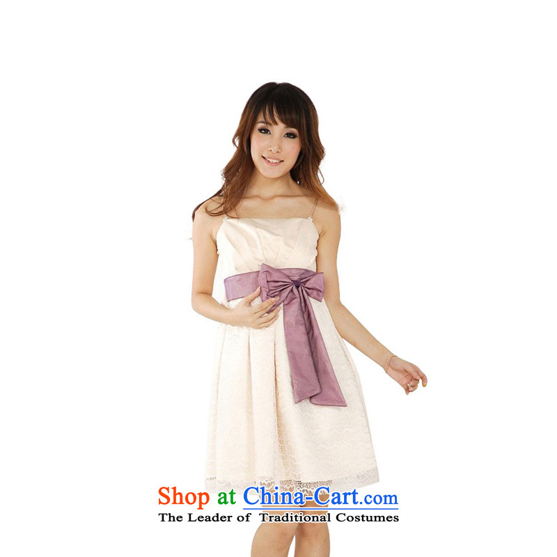 The end of the light (MO) 2012 QIAN lace damask party banquet anointed chest bride bridesmaid evening drink service small dress dresses 867 apricot are code