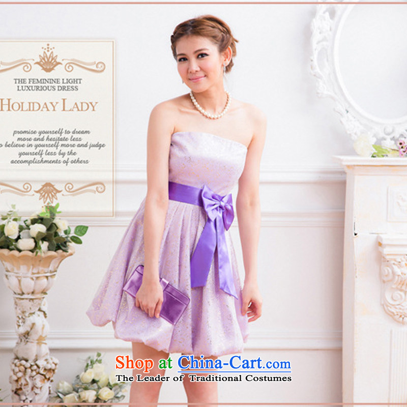 The end of the light (MO) Appointments small QIAN ladies dress dresses evening dresses lanterns skirt�2326�purple�L