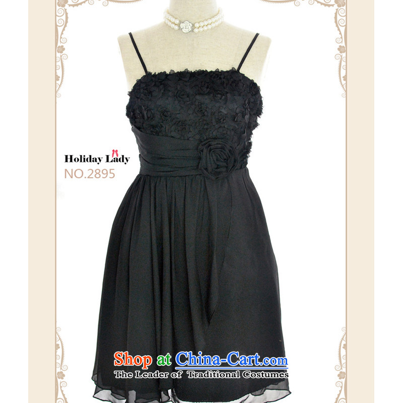 The end of the light (MO) 2013 QIAN new high-Foutune of video thin dress chiffon dress 2,895 Quality Assurance price concessions are black code length