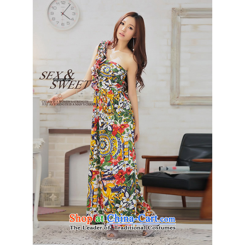 The end of the light (MO) shoulder QIAN billowy flounces aesthetics in long vacation dresses dress skirt?2810 fancy safflower are code