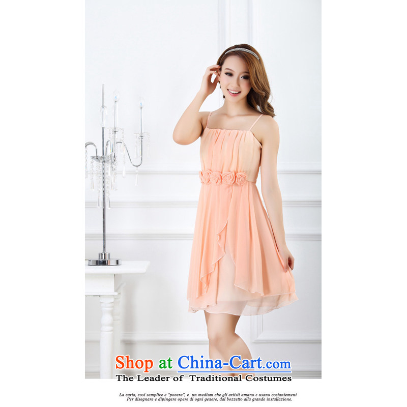 The end of the light (MO) 2014, sweet QIAN Little Princess roses bridesmaid small dress moderator banquet dress dresses�pink are Code 9005