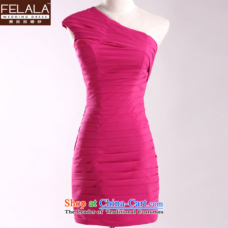 Ferrara small dress short of annual meetings of the evening dress shoulder bridesmaid services moderator sister dress Chun聽S聽Suzhou Shipment