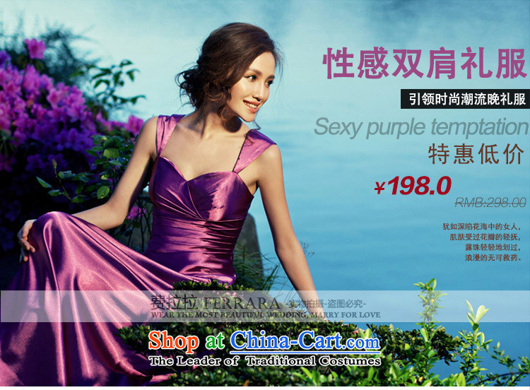 Ferrara temperament purple evening dress long wedding dresses bride bows moderator dress dinner with L Suzhou shipment picture, prices, brand platters! The elections are supplied in the national character of distribution, so action, buy now enjoy more preferential! As soon as possible.