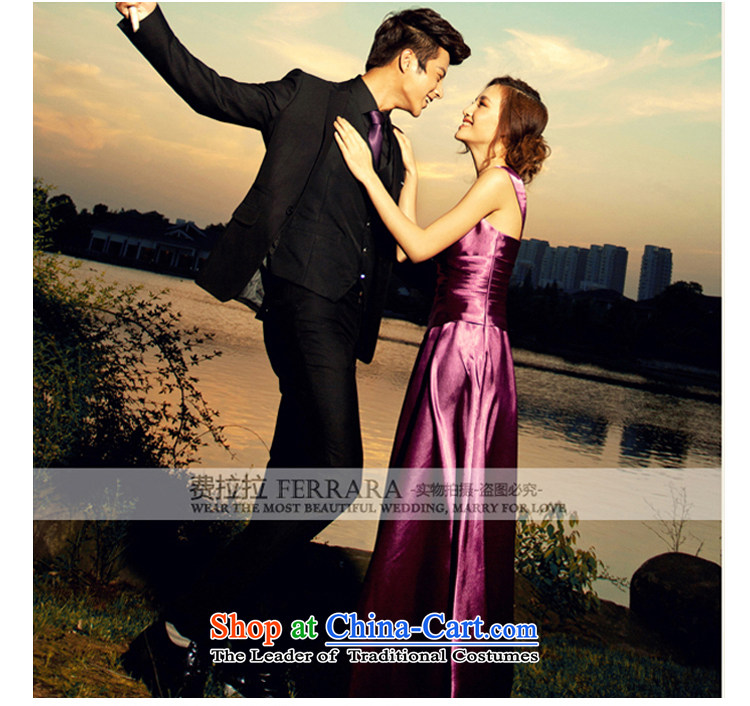 Ferrara temperament purple evening dress long wedding dresses bride bows moderator dress dinner with聽L聽Suzhou shipment picture, prices, brand platters! The elections are supplied in the national character of distribution, so action, buy now enjoy more preferential! As soon as possible.