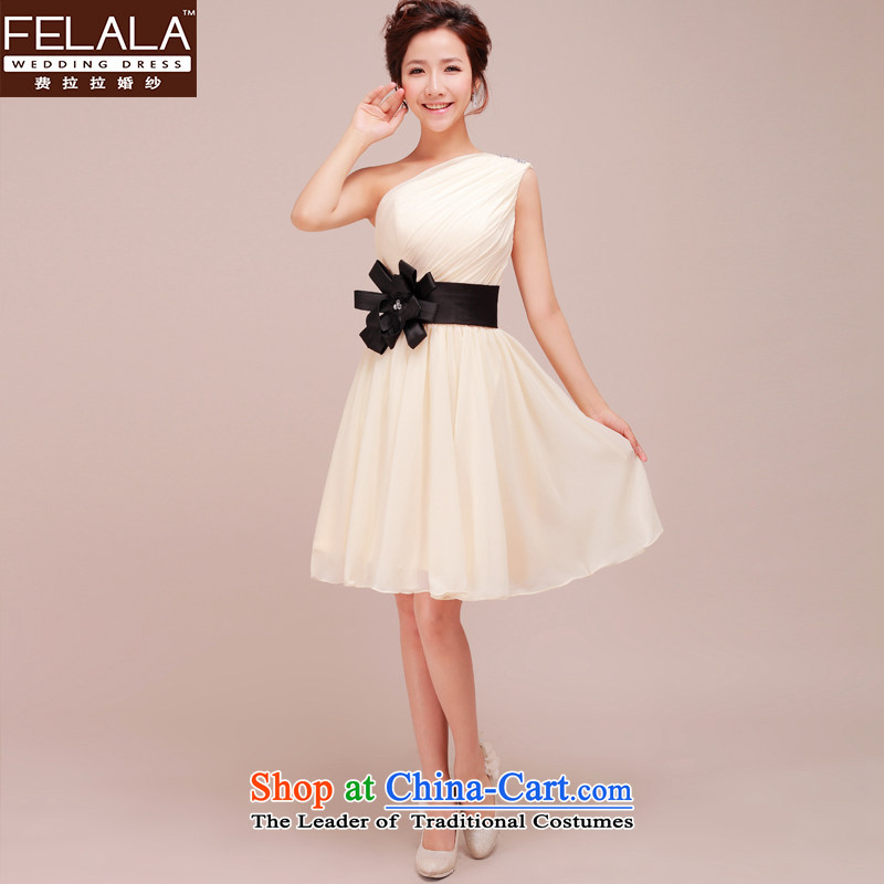 Ferrara upscale bridesmaid small dress Beveled Shoulder bridesmaid skirt shoulder short of the annual meeting of persons chairing evening dress Chun?S?Suzhou Shipment