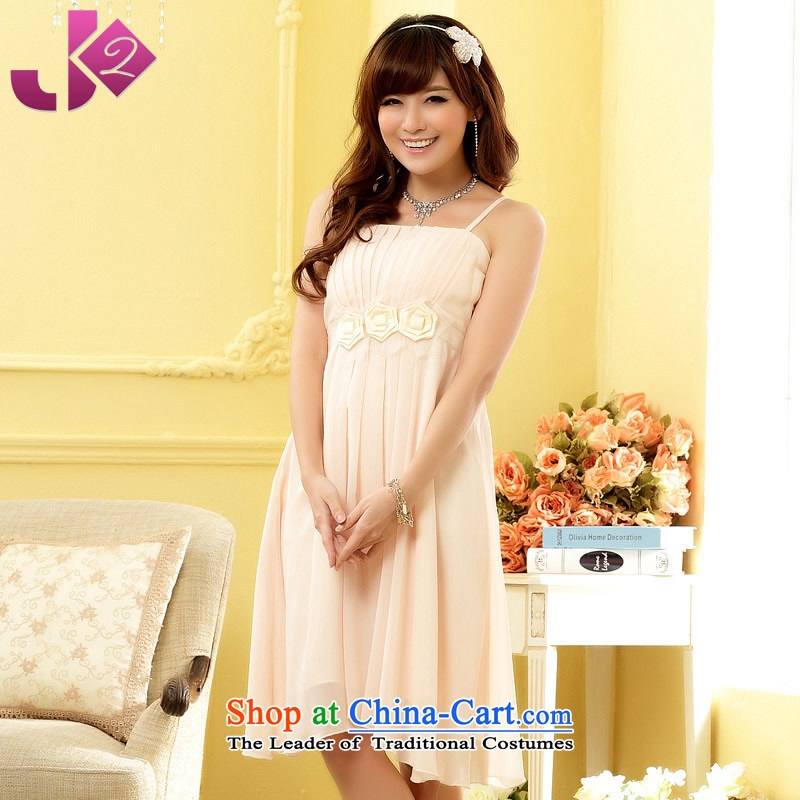 Jk2.yy?style kidney strap chiffon dresses and sisters bridesmaid small dress skirt xl female champagne color?XL recommendations about 125