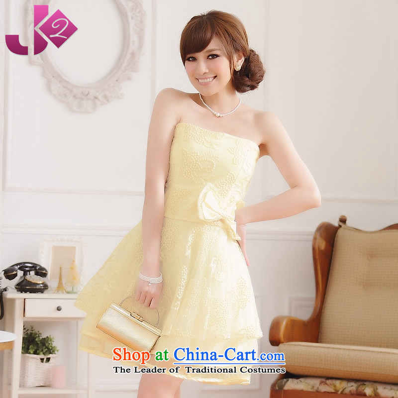 ?The Korean version of the chest and Jk2.yy skirt sister State of rust princess apron skirt bridesmaid dress thick mm to increase women's code evening under the auspices of champagne color?3XL around 922.747 recommendation 170