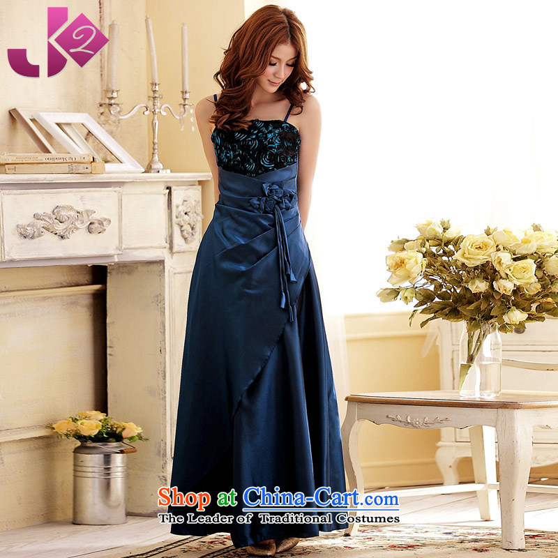 Jk2.yy?marriages wedding bows service long evening dress Hotel opened the annual concert banquet xl female blue are code around 922.747 recommended 100