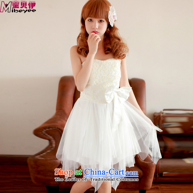 Honey Bej New ~ magazine dream princess flash toner bow ties not anointed petticoats rules chest skirt dress skirt bridesmaid skirt bows services white are code