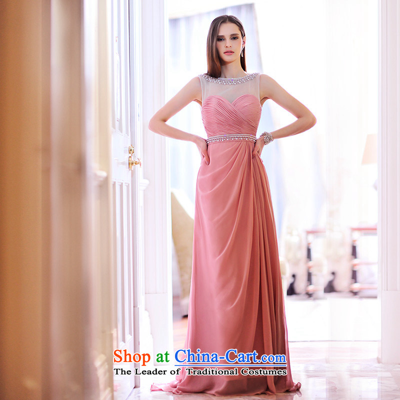 Full Chamber Fang 2015 new lace round-neck collar and Chest Service L21475 bows marriages evening dress the usual zongzi long�tail�165-M color 15cm