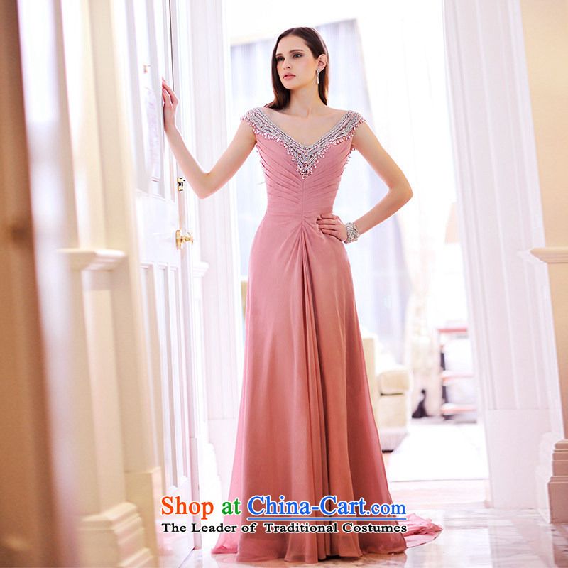 Full Chamber Fang 2015 new dresses nude bride bows services evening dresses shoulder strap V-Neck long tail color usual zongzi L21476 15 cm 165-S