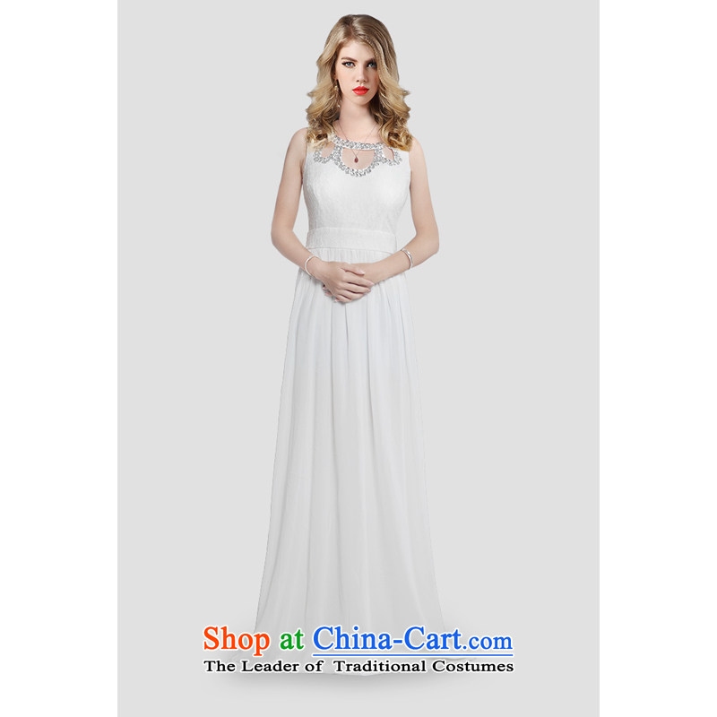 158 multimedia?2015, guoisya evening dresses long wedding dresses and stylish gathering appointments lace skirt White?M