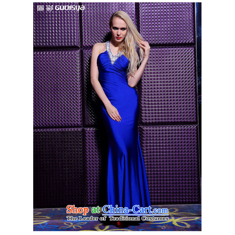 158 multimedia, banquet long sexy women's dress dresses blue?L