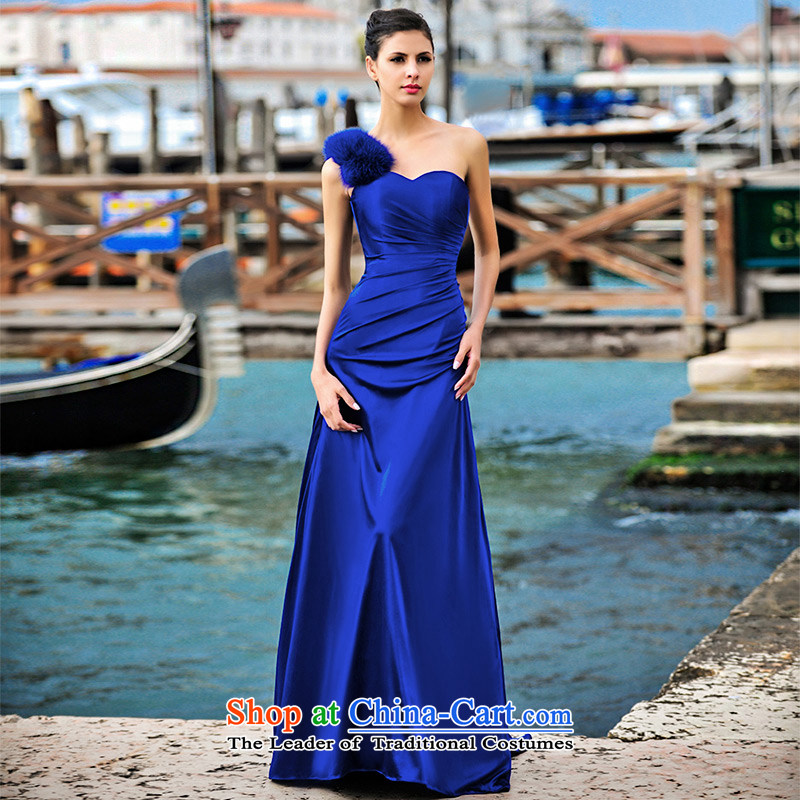 Full Chamber Fang 2015 Venice new dresses L21422 fox shoulder and chest hair long bride services blue?173-XL bows