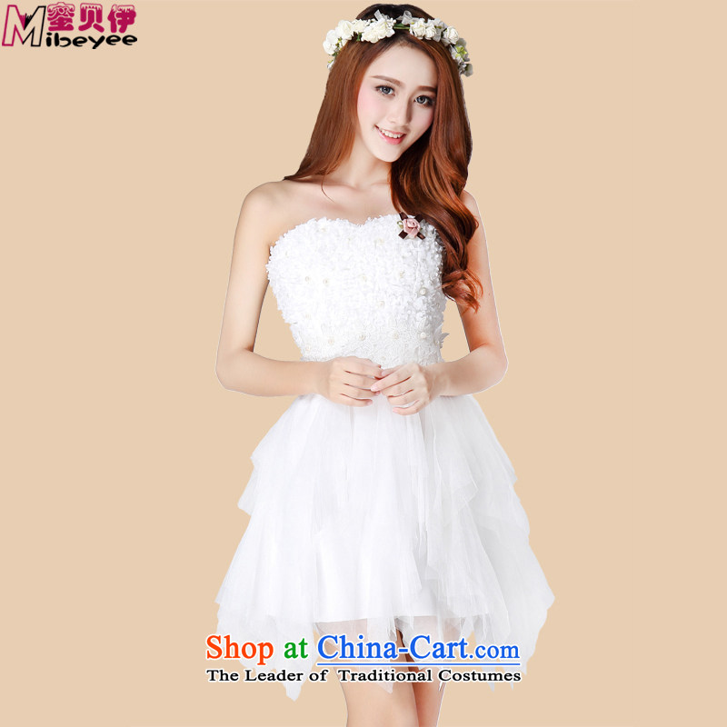 Honey bej sweet Princess Pearl of the clause is not weave lace rules bon bon petticoats bows services evening dresses and chest skirt evening dresses dresses princess skirt performances are white code