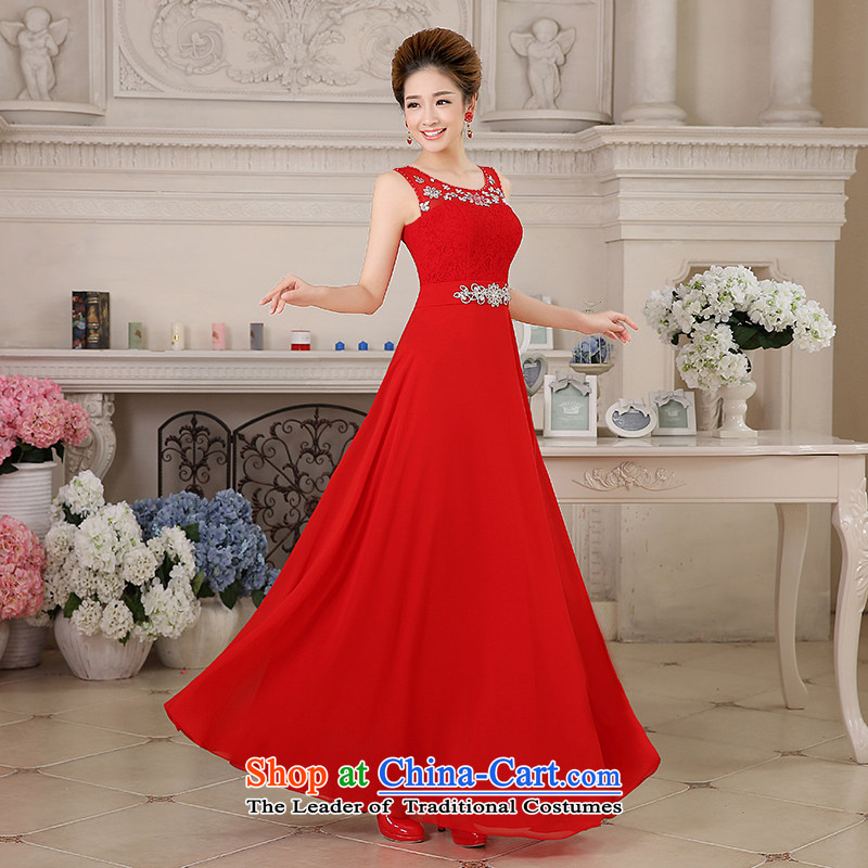 Hiv Miele wedding dresses 2015 new bride bows service long Tulle lace diamond shoulders Sau San evening dress will?L0043?RED?XXL