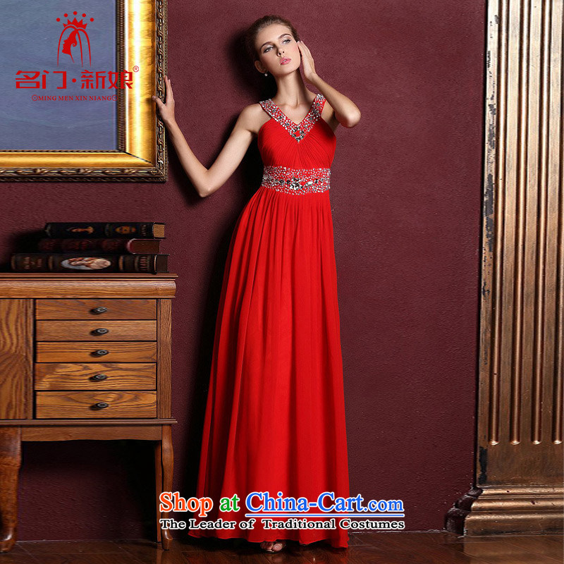 A Bride wedding dresses red long history dress wedding gown hanging bows Services 884 red S
