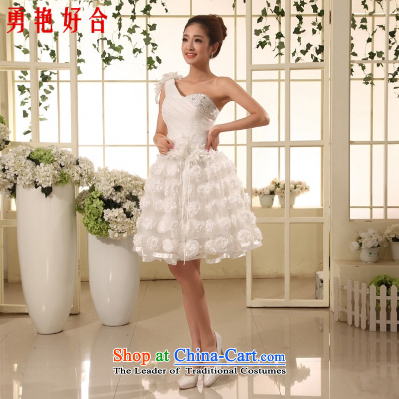 In accordance with the new 2015 yarn bridesmaid skirt Hsia dynasty female skirt will show short white dresses, with White?XXL