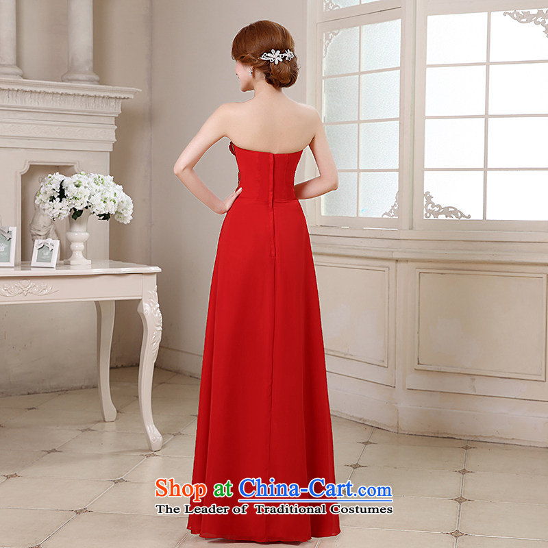Embroidered Bride Korean is by no means a new three-dimensional wedding flower long gliding anointed chest bows dress red made does not allow, embroidered bride shopping on the Internet has been pressed.