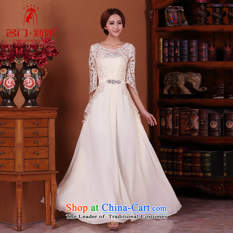 A?new bride 2015 bows dress lace stitching dress elegant large petticoats 590 L