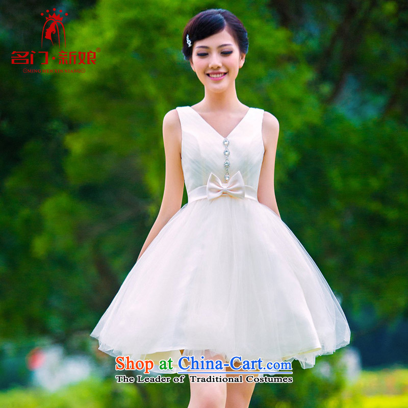 A�new 2015 bridal dresses bridesmaid marriage small dress princess dress bows to 335 M
