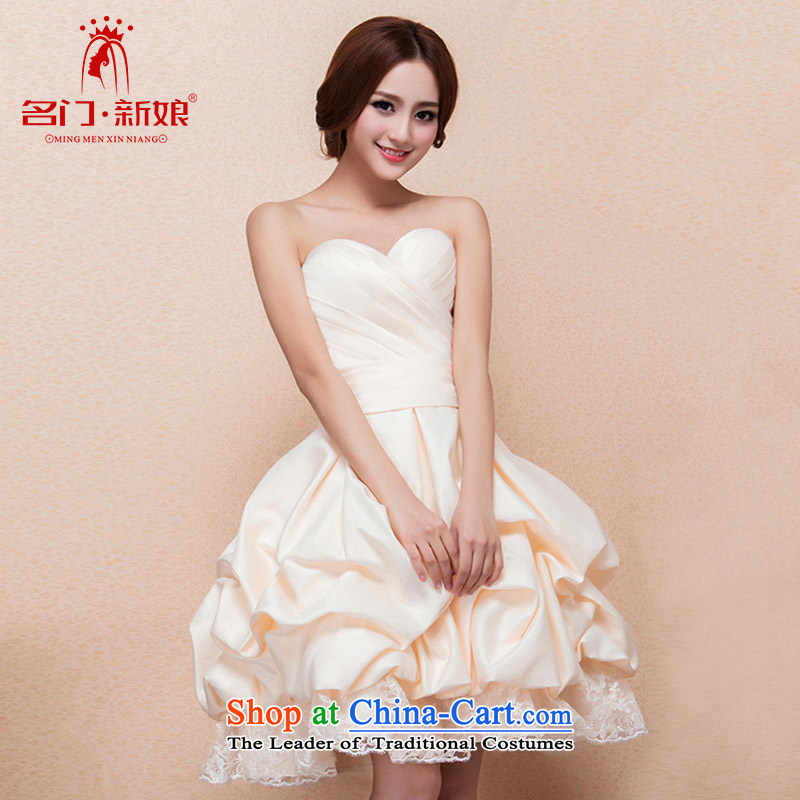 A?new 2015 bridal dresses bridesmaid dresses small princess bon bon skirt bows Services?122 L