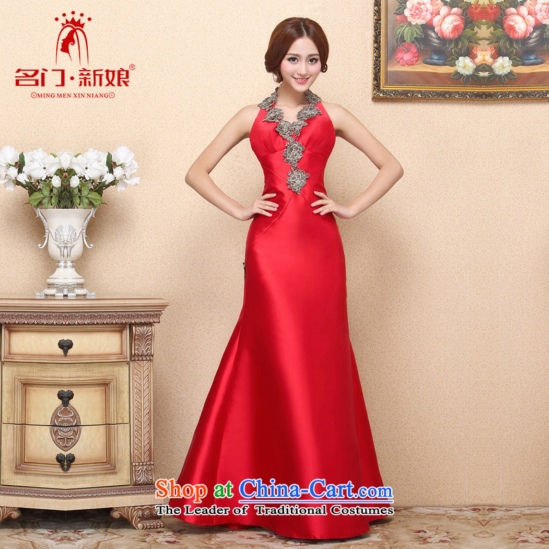 A�new bride 2015 Red bows dress hang also dress crowsfoot video thin retro 664 L