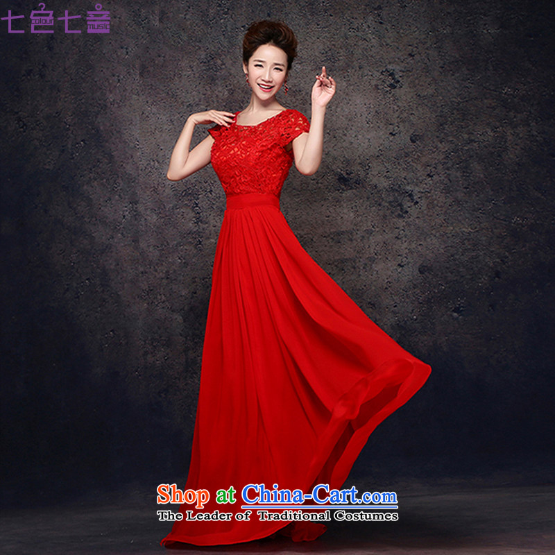 7 7 color tone classic 2014 new bride dress red marriage bows services retro lace back door onto?L001 Dress?Short-sleeved long tailored