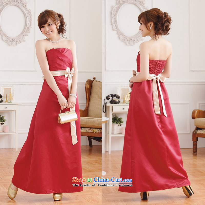 �The Korean version of the aristocratic Jk2.yy elegant long sexy dress long skirt moderator banquet dresses red�XXL
