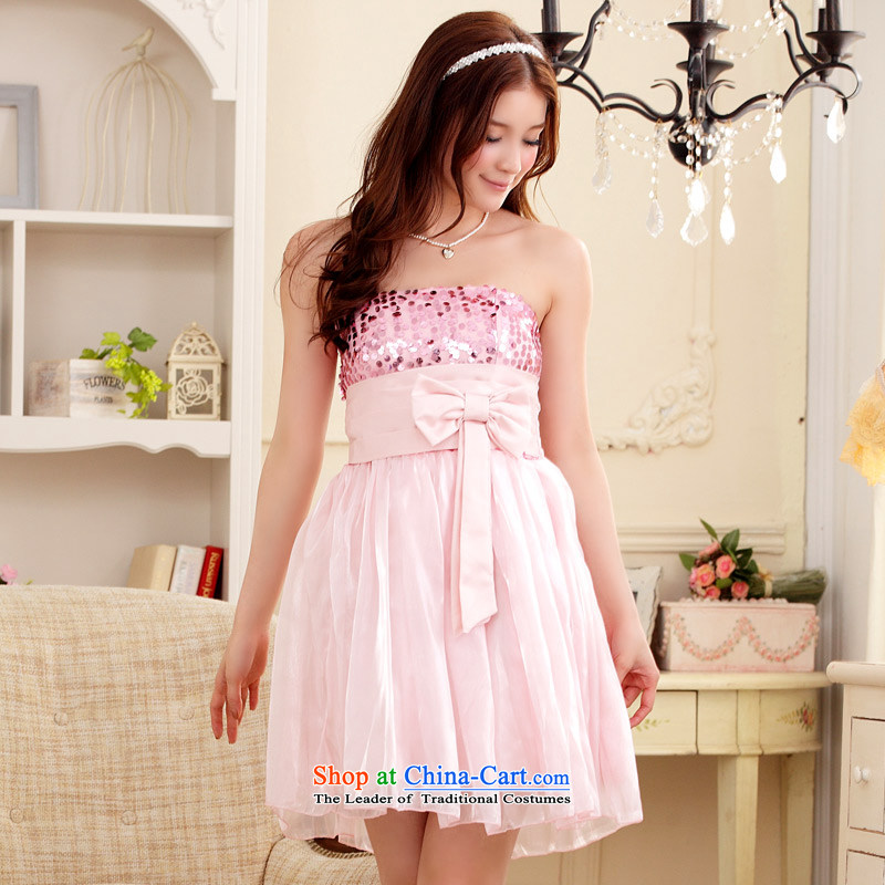 �At the end of the Chest dinner Jk2.yy) dress large pregnant women skirt (feed) with pink stealth�XL