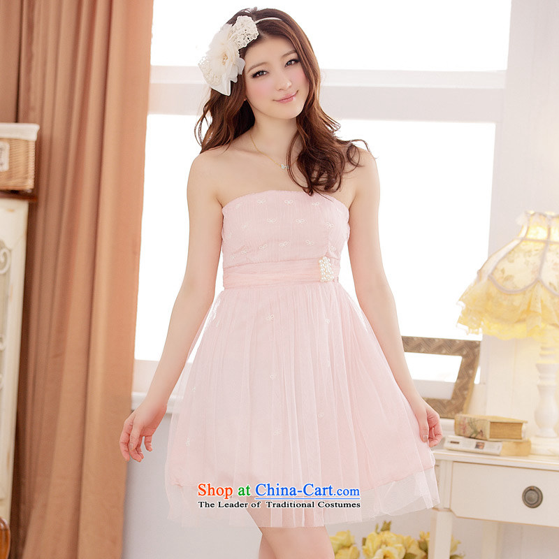 The Korean version of the aristocratic Jk2.yy Princess van gauze short of dress code with large chest pink dresses are code