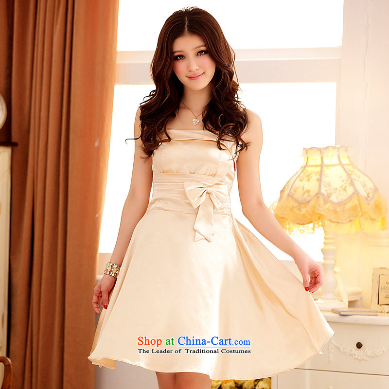 The Korean version of the aristocratic Jk2.yy Princess Victoria Junction Dinner Drive Fan is short of dress larger strap bridesmaid mission dress dresses champagne color are code