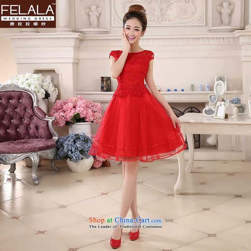 Ferrara 鈾� 2015 new wedding dresses red Chinese cheongsam dress short of marriages bows Services Mr Ronald RED聽M聽Suzhou Shipment