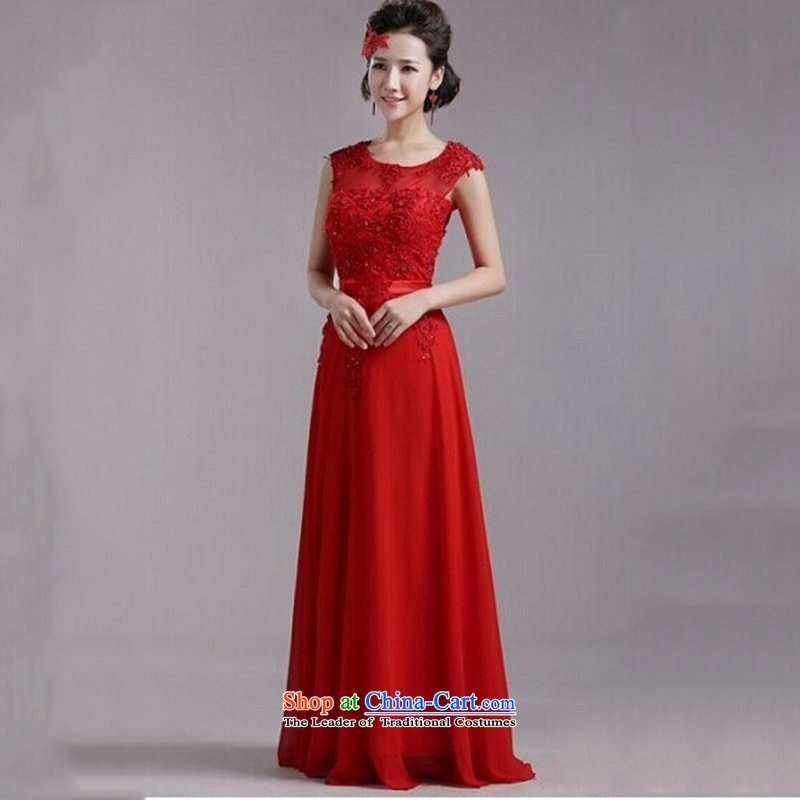 Optimize new stylish Hong-shoulders lace wedding dresses wedding service bridal XML0901 bows red S, Optimize Hong shopping on the Internet has been pressed.