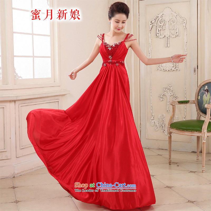 Honeymoon bride in spring and summer 2015 new products bows dress long stylish chiffon bows services under the auspices of services performed annual red?S